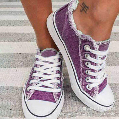 2020 Hot Selling Spring and Autumn Shoes Korean-style Cowboy Canvas Shoes Low To