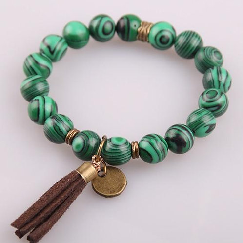 Hot Sale Jewelry Energy Bracelets Made By Antique Bronze Tassel Beautiful Natura