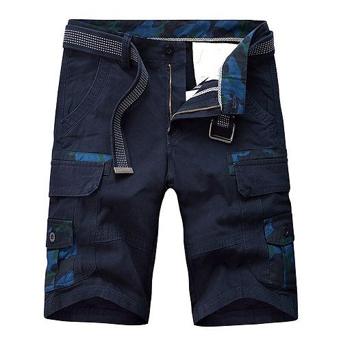 2021 Summer New Men's Casual Black Shorts Camouflage Cargo Male