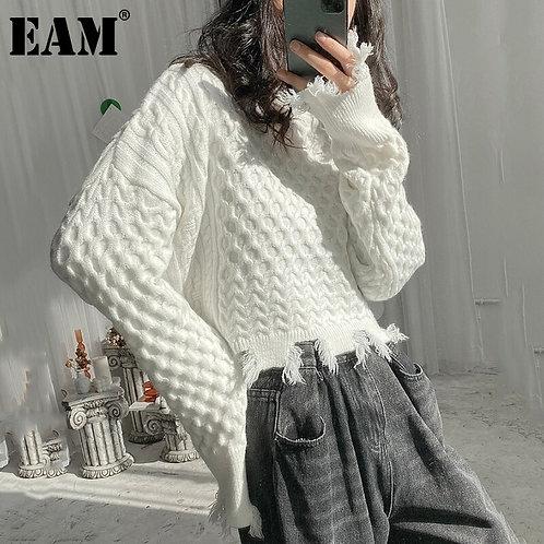 Big Size Knitting Turtleneck Sweater Loose Fit Long Sleeve Women New Fashion