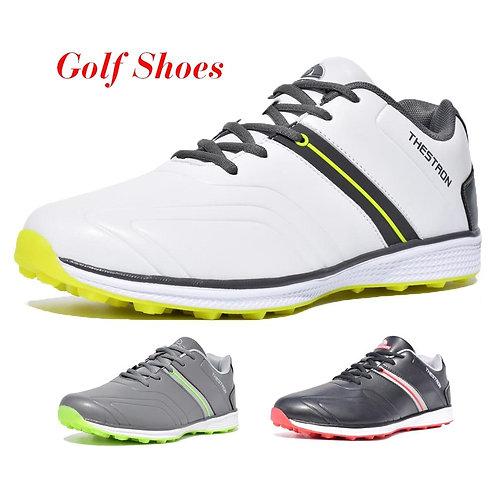 2019 New Men Golf Shoes Waterproof Spikeless/Non-slip Golf Sneakers Lightweight
