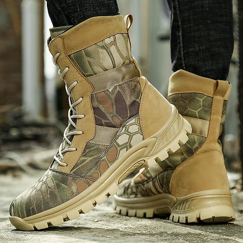 Outdoor Men Tactical Desert Boots Camouflage Military Hunting Hiking Trekking Cl