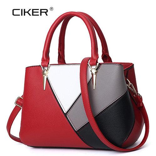 CIKER New Europe Women Leather Handbags PU Handbag Women Bag Top-Handle Bags Tot