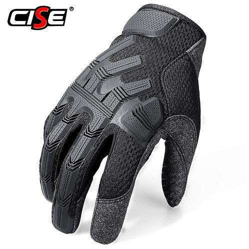 Black Motorcycle Full Finger Gloves Protective Gear Moto Finger Glove Non-Slip