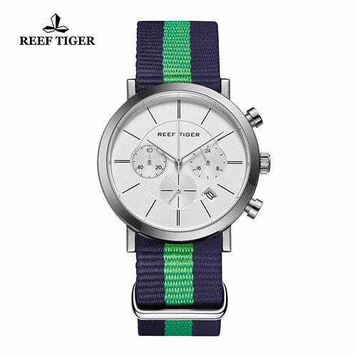 2020 Reef Tiger/RT Nylon Strap Military Wrist Watches Chronograph Quartz Watches