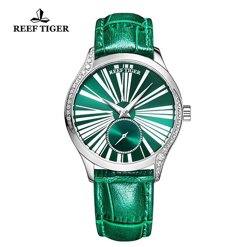 2020 Reef Tiger/RT Women Fashion Watch Top Brand Luxury Automatic Watches Green