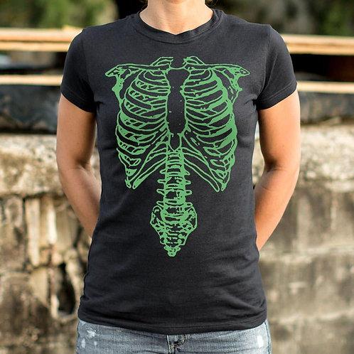 Tap The Spinal Skeleton T-Shirt (Ladies)