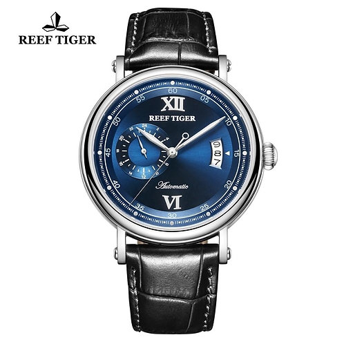 2020 Reef Tiger/RT Luxury Casual Watch for men Stainless Steel Blue Fashion Mech