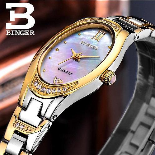BINGER Watches Women 2017 Fashion Slim Quartz Diamond Watch Elegant Dress Watch
