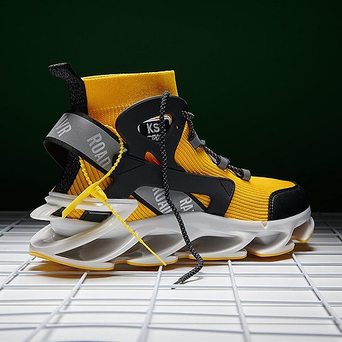 New Design Real Blade Sneakers Men High-top Sock Shoes Flying Weaving Autumn Cas