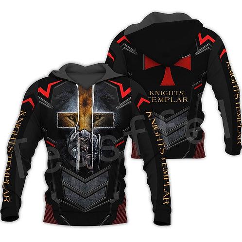 Tessffel Knights Templar Armor Pullover Streetwear Harajuku Pullover 3DfullPrint