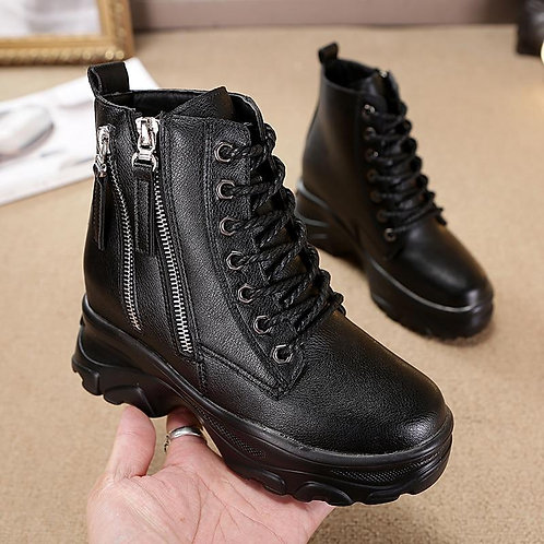 2020 New Casual Women Shoes Winter Hot Genuine Leather Women's Boots Fashion Tre
