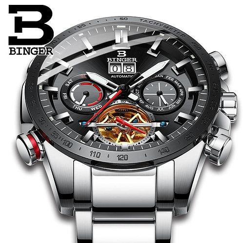 Switzerland Automatic Watch Men BINGER Mechanical Men Watches Fashion Brand Relo