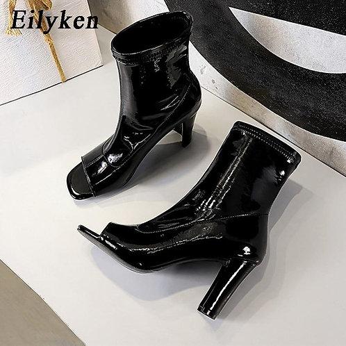 Eilyken 2021 New Casual Chelsea Women Ankle Boots Sandals Elegant Chunky Heels F