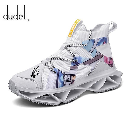 New Design Running Shoes for Men Breathable Blade Sneakers Antiskid Damping Outs