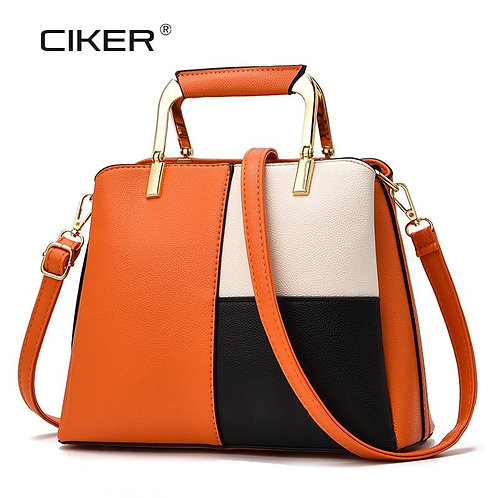 CIKER New  Women Leather Handbags PU Mosaic Pattern Women Bag Top-Handle Bags To