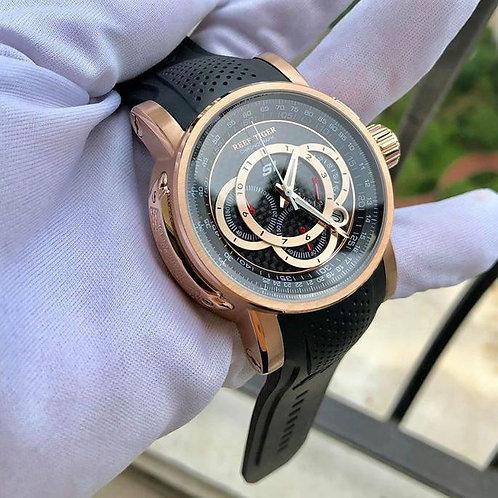 2020 Reef Tiger/RT Designer Sport Watches for Men Rose Gold Quartz Watch with Ch