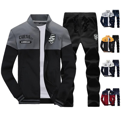 2020 New Casual Brand Men Sportswear Sets Running Sports Fitness Tracksuit Male