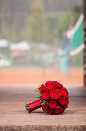 svatební kytice z růží