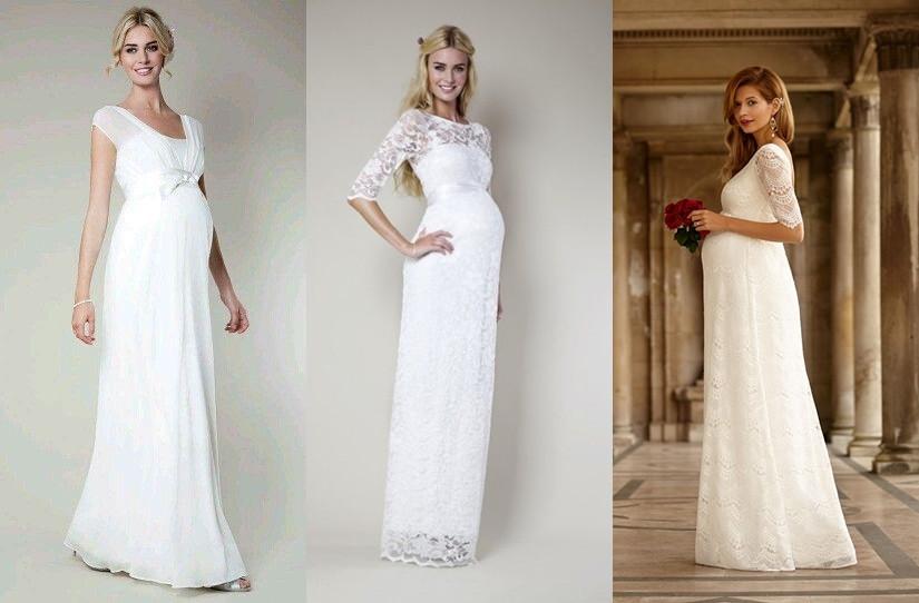 Svatební šaty pro těhotné