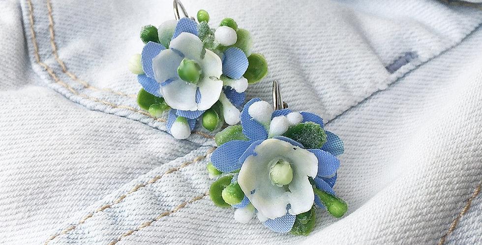 Náušnice - květinové