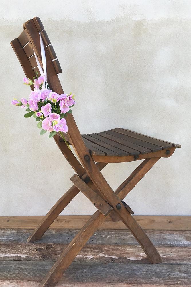 výzdoba svatební židle