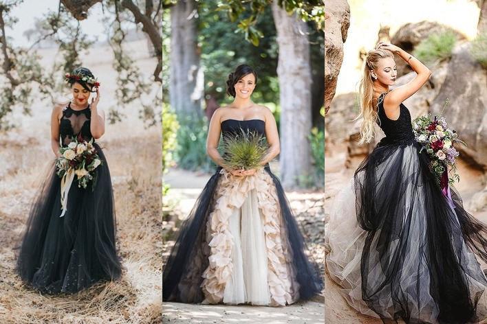 Gotické svatební šaty