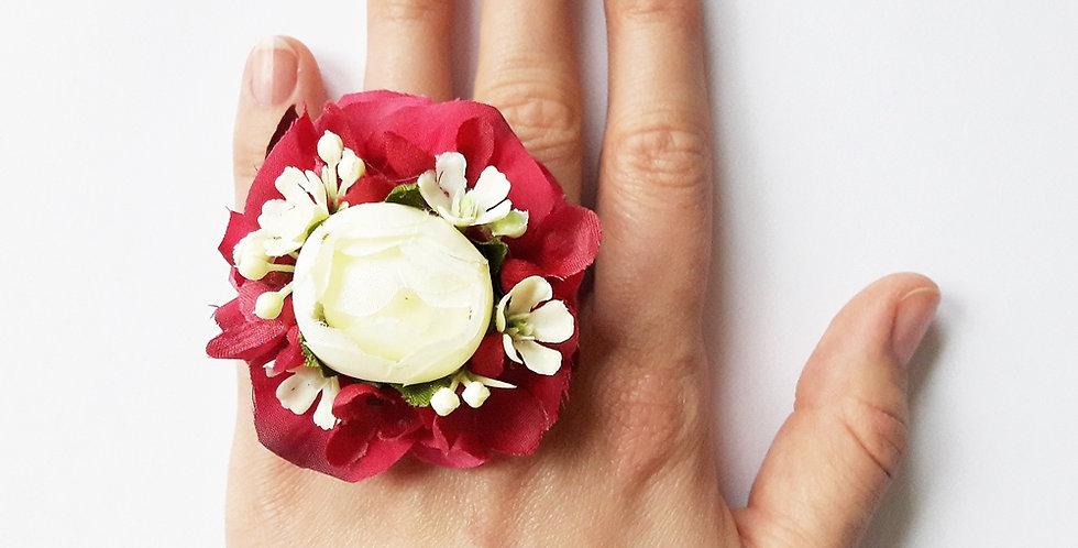 Prsten květinový - pivoňka