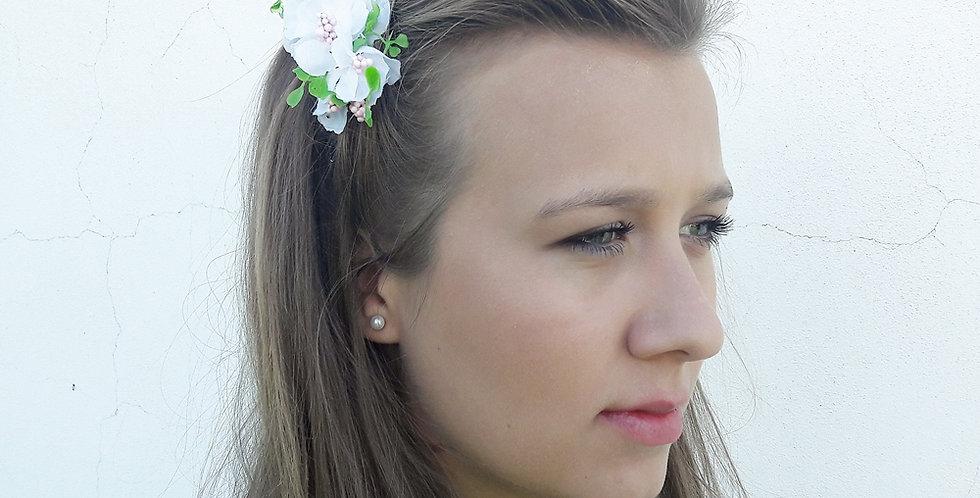 Hřebínek květinový do vlasů - Bělenka