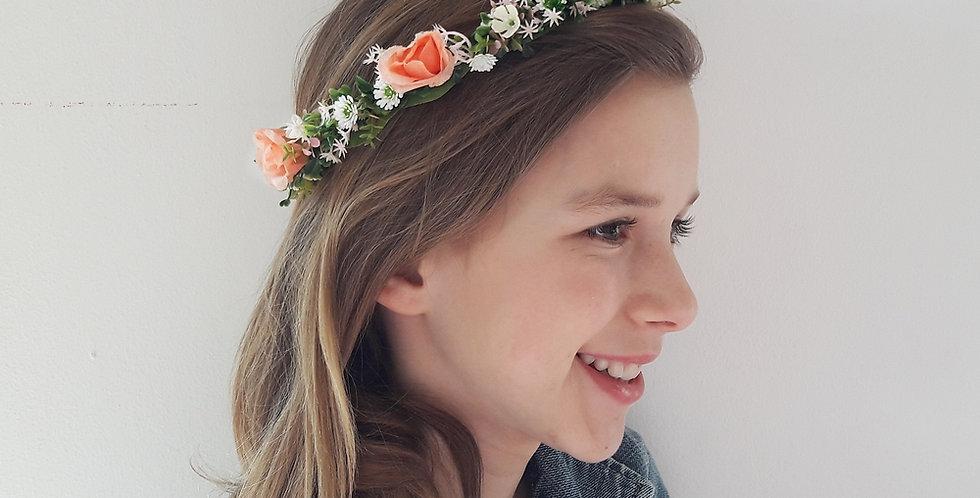 Věneček do vlasů z květin - jemný