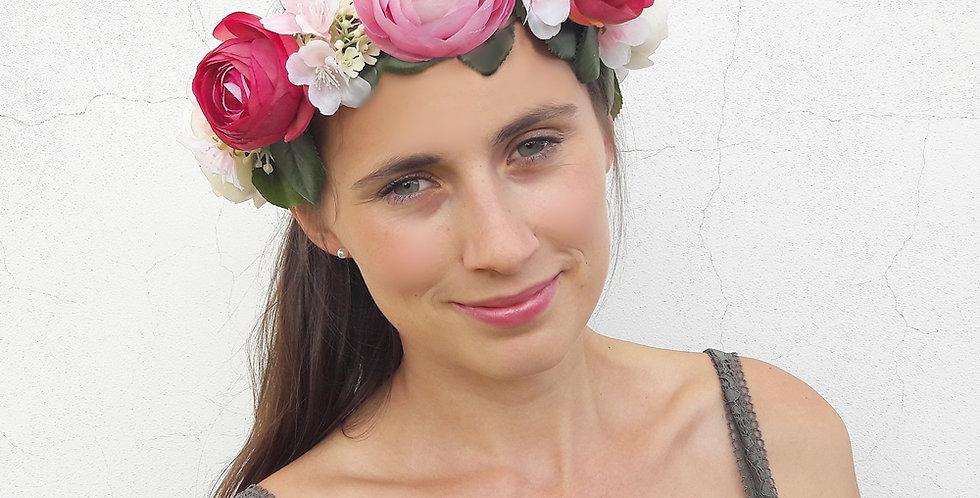 Věneček do vlasů z květin - pro vílu