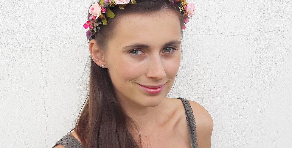 Květinový věneček do vlasů - pro princeznu