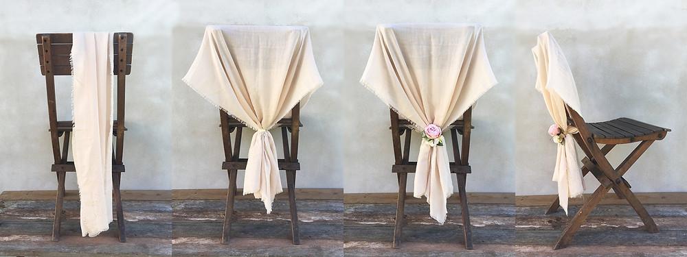 Svatební výzdoba židlí