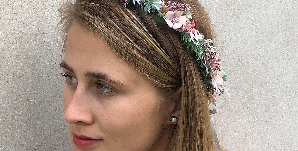 Květinový věneček - růžová romance