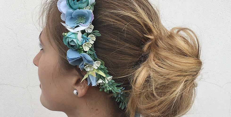 Věneček do vlasů - modrý