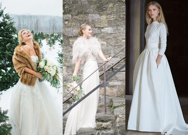 Zimní svatební šaty