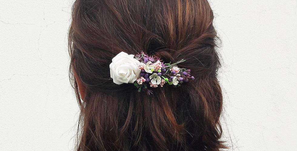 Spona do vlasů s květinovou ozdobou - Kometa