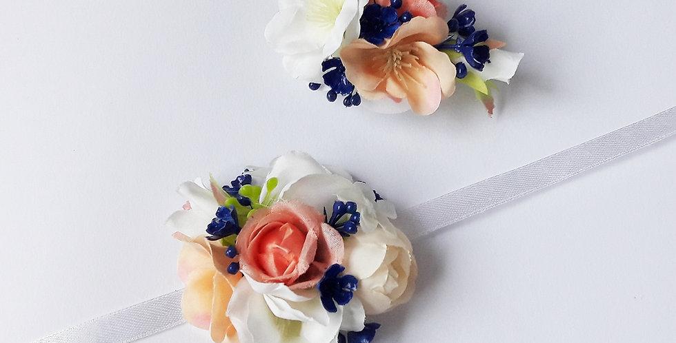 Květinový set - náramek a spona