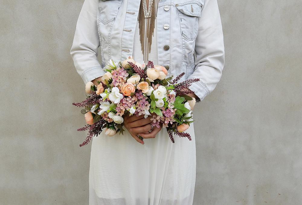 svatební kytice splývavá