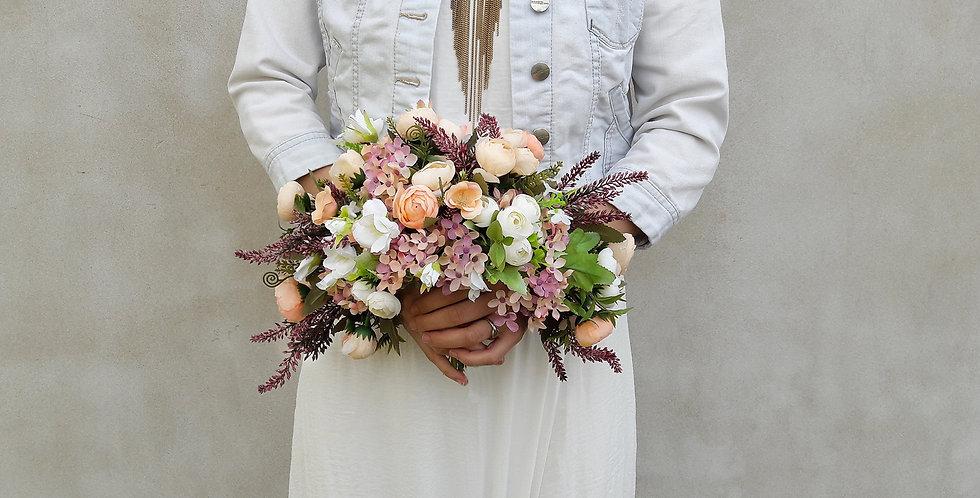 Svatební kytice půlměsíc