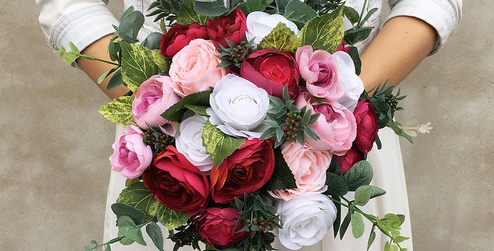 Svatební kytice růžová
