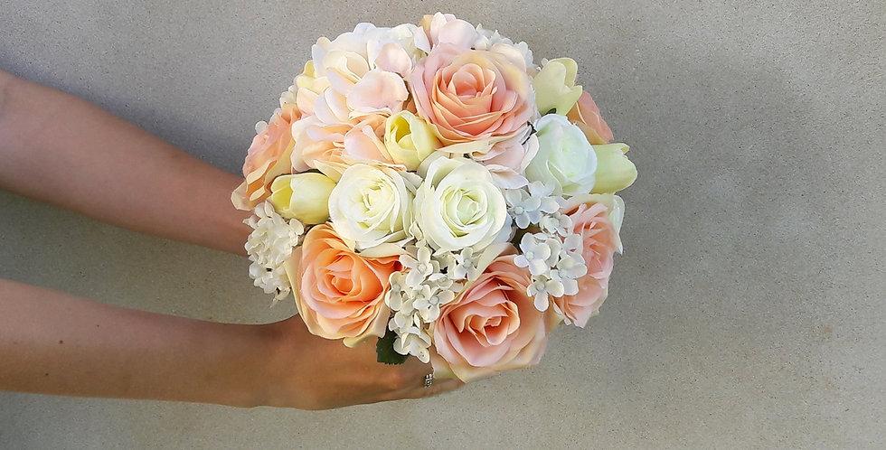 Svatební kytice - meruňková