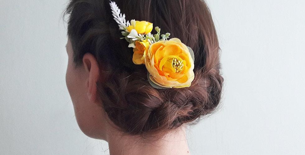 Spona do vlasů - žlutěnka