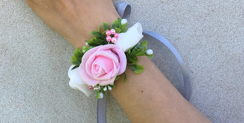 Svatební náramek - růžový