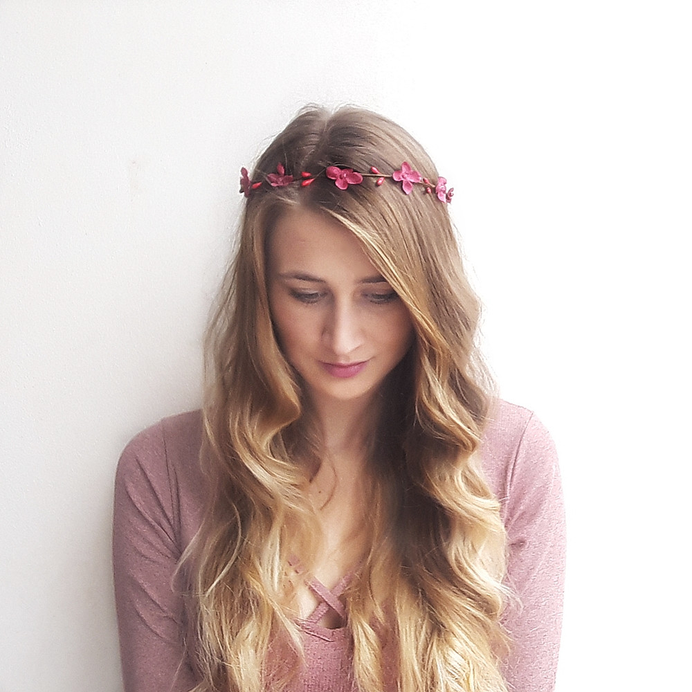 věneček do vlasů z hortenzie