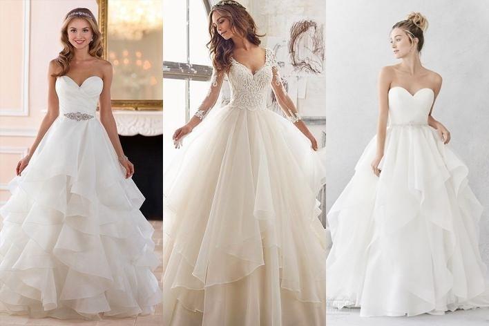 šaty s kaskádovitou sukní