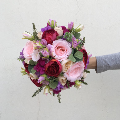 Látková svatební kytice .JPG