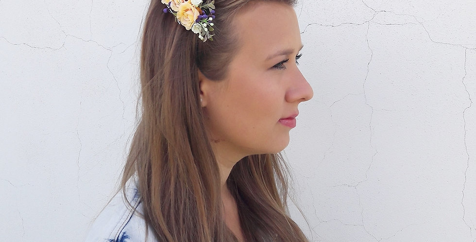 Květinový hřebínek do vlasů - Růžičky