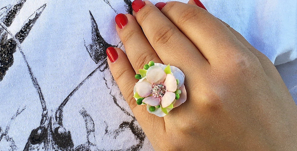 Prsten - růžový