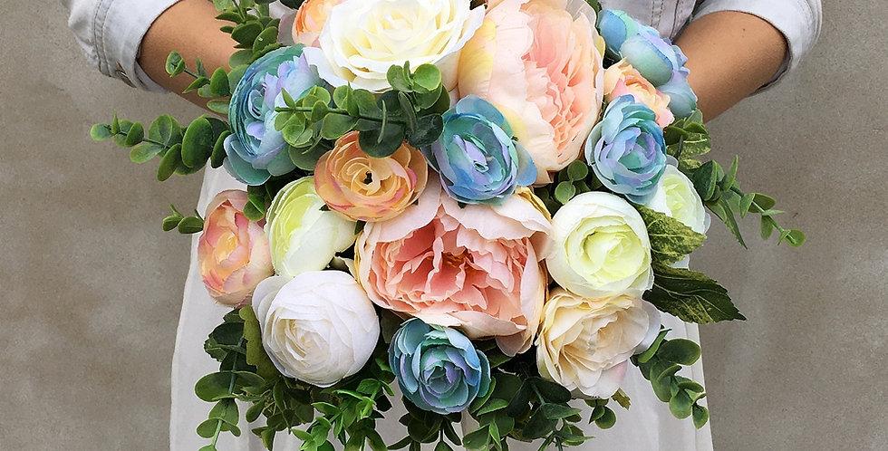 Svatební kytice pastelová